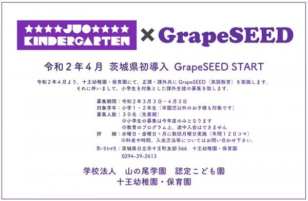GrapeSEED 課外募集